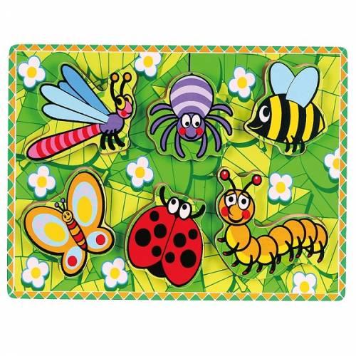 Деревянная игрушка  Рамка-вкладыш Viga Toys Насекомые 56437