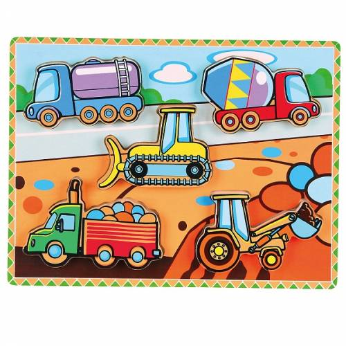 Деревянная игрушка  Рамка-вкладыш Viga Toys Спецмашины 56439