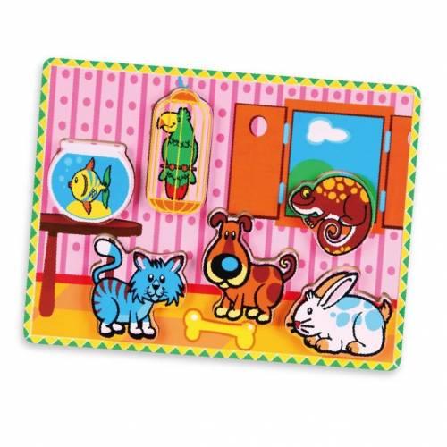 Деревянная игрушка  Пазл Viga Toys Домашние животные 56440