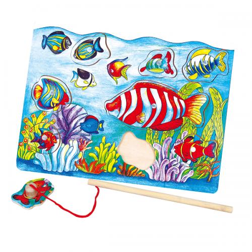 Деревянная игрушка  Пазл магнитный Viga Toys Рыбалка 58423
