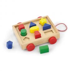 Деревянная игрушка  Сортер Viga Toys Тележка с блоками 58583