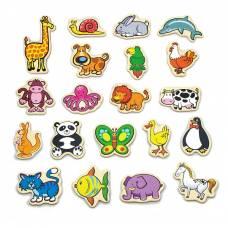 Деревянная игрушка  Набор магнитных фигурок Viga Toys В мире животных, 20 шт. 58923