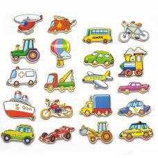 Деревянная игрушка  Набор магнитных фигурок Viga Toys Транспорт 20 шт. 58924