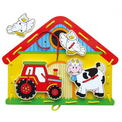 Деревянная игрушка  Шнуровка Viga Toys Ферма 59027
