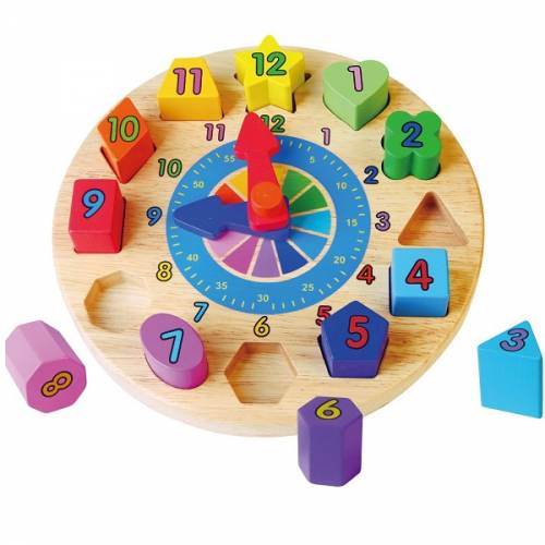 Деревянная игрушка  Пазл Viga Toys Часы 59235VG