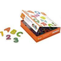 Деревянная игрушка  Набор магнитных букв и цифр Viga Toys Буквы и цифры 59429