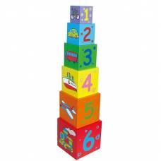 Деревянная игрушка  Набор кубиков Viga Toys Пирамидка 59461