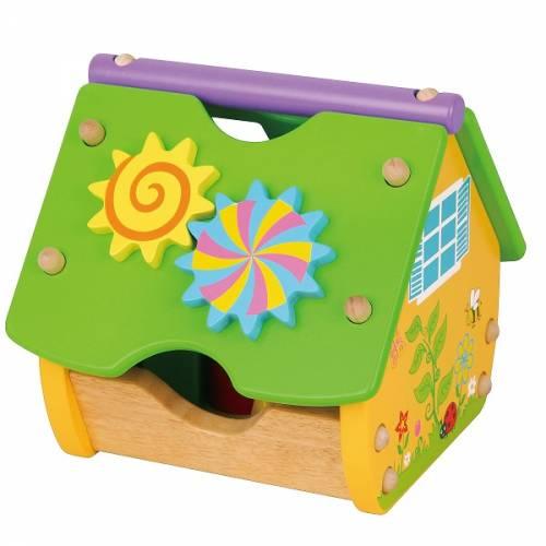 Деревянная игрушка  Игрушка-конструктор Viga Toys Веселый домик 59485