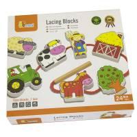 Деревянная игрушка  Шнуровка Viga Toys Ферма 59548