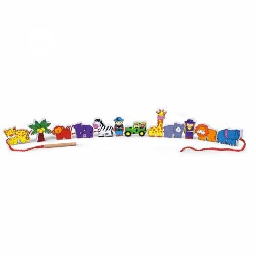 Деревянная игрушка  Шнуровка Viga Toys Зоопарк 59549
