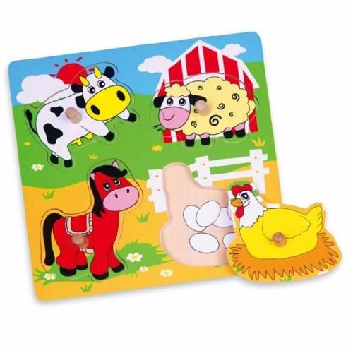 Деревянная игрушка  Пазл Viga Toys Ферма 59562