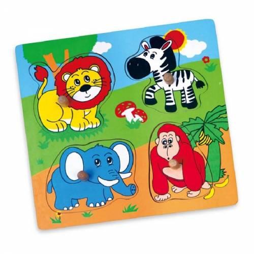 Деревянная игрушка  Пазл Viga Toys Дикие животные 59563