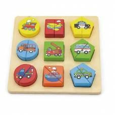 Деревянная игрушка  Пазл Viga Toys Формы. Транспорт 59586