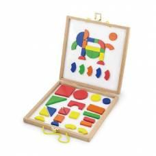 Деревянная игрушка  Набор магнитных блоков Viga Toys Формы и цвет 59687