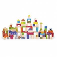 Деревянная игрушка  Набор строительных блоков Viga Toys 100 шт., 3 см 59696
