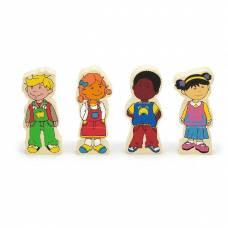 Деревянная игрушка  Набор магнитов Viga Toys Дети 59699VG