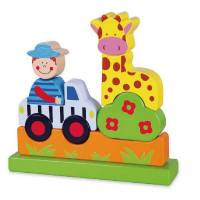 Деревянная игрушка  Магнитный пазл Viga Toys Сафари 59702