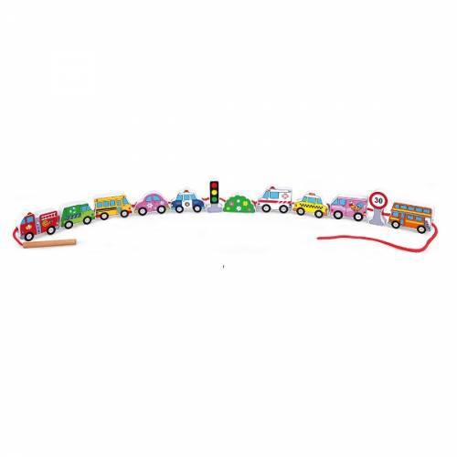 Деревянная игрушка  Шнуровка Viga Toys Автотранспорт 59851