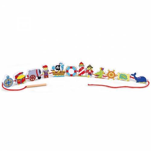Деревянная игрушка  Шнуровка Viga Toys Пират 59852VG