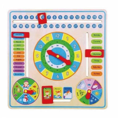 Деревянная игрушка  Игрушка Viga Toys Часы и календарь 59872