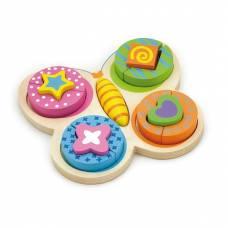 Деревянная игрушка  Пазл Viga Toys Бабочка 59924