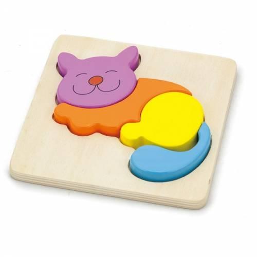 Деревянная игрушка  Пазл Viga Toys Кошка 59930