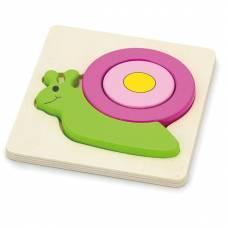 Деревянная игрушка  Мини-пазл Viga Toys Улитка 59931