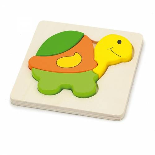 Деревянная игрушка  Мини-пазл Viga Toys Черепаха 59933