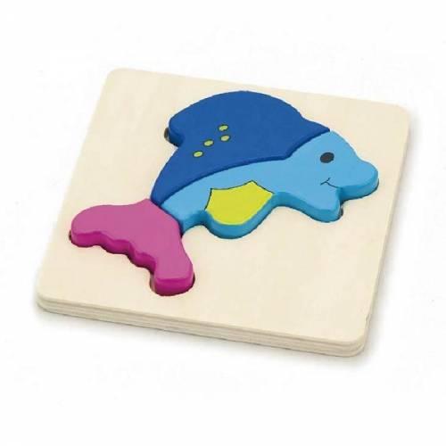 Деревянная игрушка  Мини-пазл Viga Toys Рыбка 59934