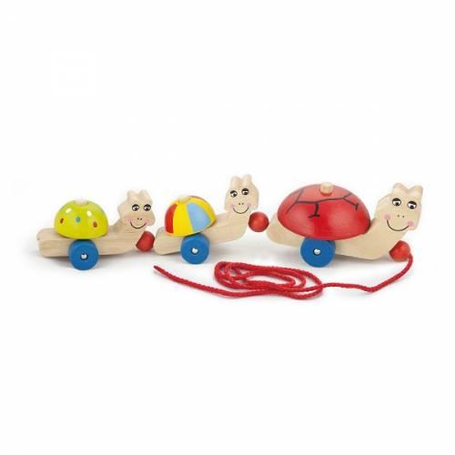 Деревянная игрушка  Игрушка-каталка Viga Toys Черепашки 59949