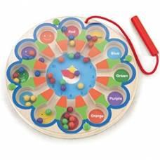 Деревянная игрушка  Развивающая игрушка Viga Toys Магнитный лабиринт Часы 59980