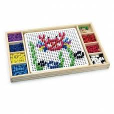 Деревянная игрушка  Игра Viga Toys 2-в-1 Мозаика и лудо 59990VG