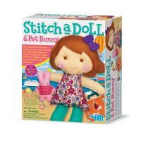 Набор для творчества 4M Шитье Кукла и кролик 00-02765