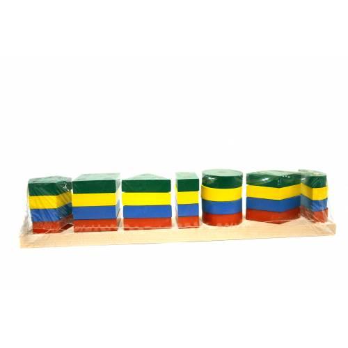 Деревянная игрушка Пирамидка Гео-XXL KOMAROVTOYS А 340