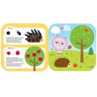 Книга для творчества В лесу Малышарики Рисуем пластилином Мозаика-Синтез 9785431515026
