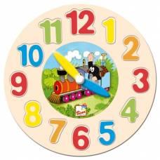Деревянная игрушка Часы Кротик BINO 13751