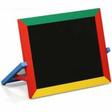 Деревянная игрушка Доска двусторонняя для магнитов мела и фломастеров KOMAROVTOYS М 403