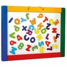 Деревянная игрушка Доска подвесная с буквами двусторонняя Bino 83651