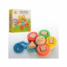 Деревянная игрушка  Геометрика, Цветок MD 0709