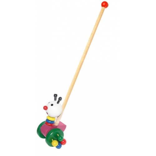 Деревянная игрушка Каталка Белый хомячок Wooden Toys 02-1487-4