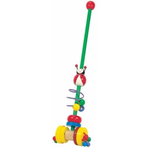 Деревянная игрушка Каталка Божья коровка BINO 81666