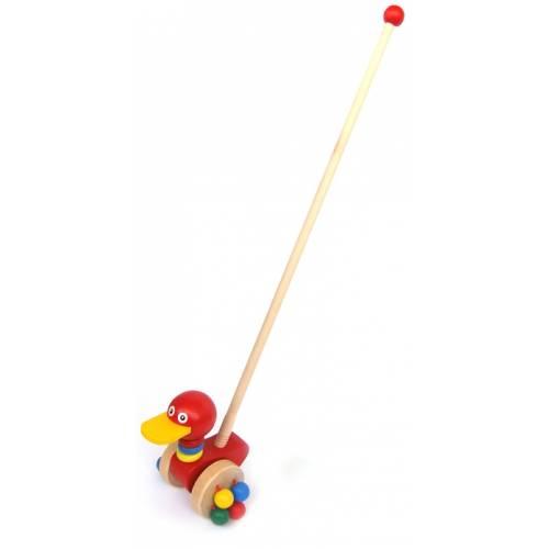 Деревянная игрушка Каталка Птичка Wooden Toys OS 3833