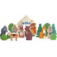 Деревянная игрушка Конструктор «Аленушкины сказки: Маша и медведь, Смоляной бычок, Аленушка и лиса», ТОМИК 453-4