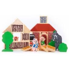 Деревянная игрушка Конструктор Сказки: Три поросенка ТОМИК 4534-6