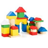 Деревянная игрушка Конструктор Цветной 43 детали ТОМИК 6678-43