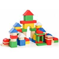 Деревянная игрушка Конструктор Цветной 65 деталей ТОМИК 6678-65