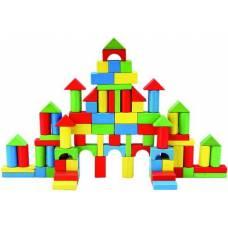 Деревянная игрушка Конструктор-сортер в ведерке большой BINO 84196