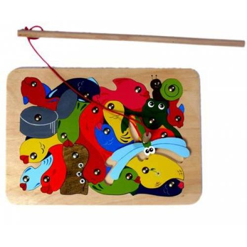Деревянная игрушка Магнитная мозаика На пруду КРОНА 143-015
