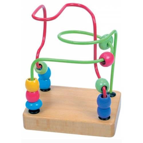 Деревянная игрушка Пальчиковый лабиринт Зеленый BINO 84162