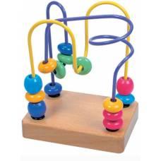 Деревянная игрушка Пальчиковый лабиринт Желтый BINO 84163